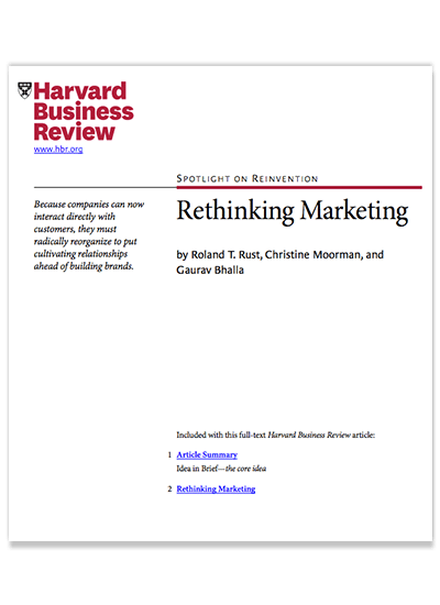 Rethinking Marketing by Gaurav Bhalla